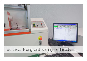 Quality - Test area Fixing and sealing of threads