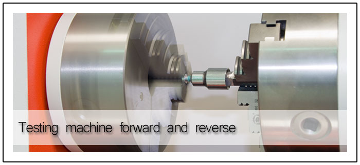Test machine forward and reverse